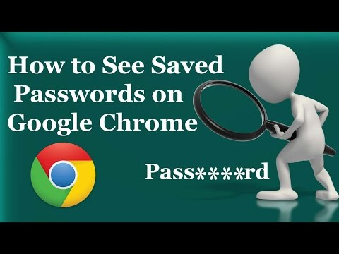 how to look to my saved password on gogole chrome