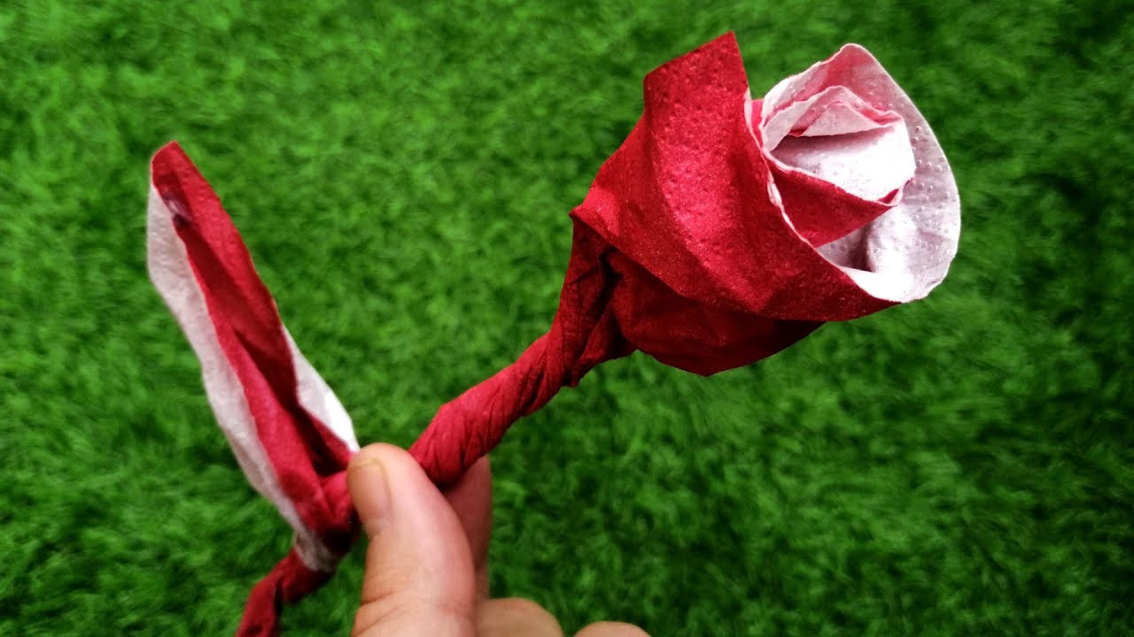 Napkin Rose Instructions🌹