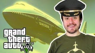 GTA V Sandbox: Roubando o Maior Avião!