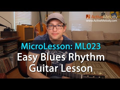 easy blues rhythm guitar lesson microlesson ml023 youtube. Black Bedroom Furniture Sets. Home Design Ideas