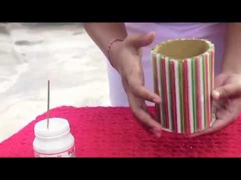 Membuat Tempat Pensil dari Pipet - (KLP 6 BG-D)