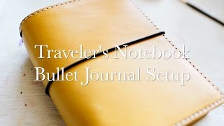 Bullet Journaling in a Traveler's Notebook(Hey y'all! This was a much requested video on how I set up my bullet journal in my traveler's notebook. I give you a peak into my current everyday setup and a ..., 2016-06-06T19:34:15.000Z)