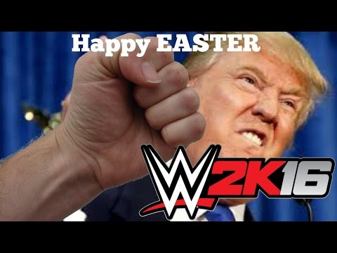 WWE 2K16 Beating the hell out of Donald Trump