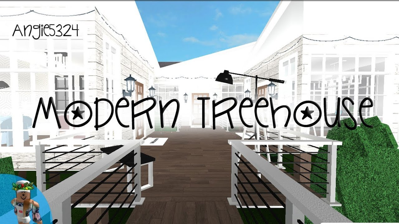 Welcome To Bloxburg Modern Treehouse Speed Build Youtube