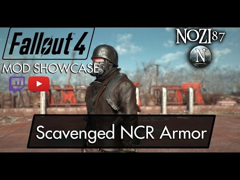 Fallout 4 Mod Showcase: Scavenged NCR Armor by L0rd0fWar