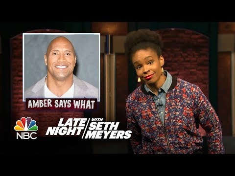 Amber Says What: The Bachelorette Is Black, Dwayne Johnson's Presidential Run