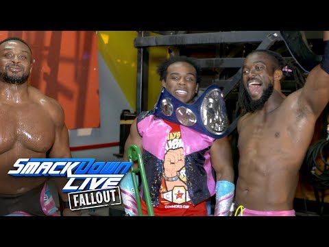 The New Day celebrate their SmackDown Tag Team Title victory: SmackDown LIVE Fallout, Sept. 12, 2017