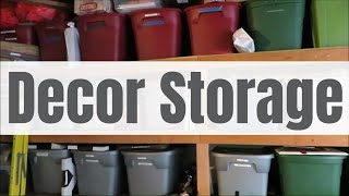 How I Store ALL MY DECOR!