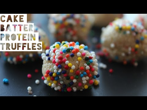 Healthy Low Carb Cake Batter Protein Truffle Recipe   The Diet Chef