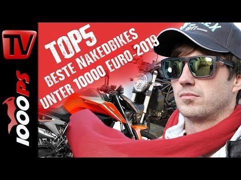Top 5 - Die besten gebrauchten und neuen Nakedbikes unter 10000 Euro im Jahr 2019