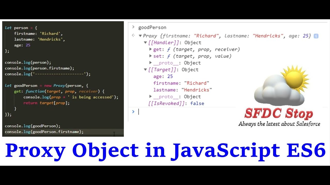 JavaScript Proxy and Reflect | Proxy Object in JavaScript ES6