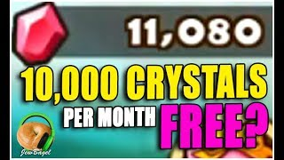 10,000 CRYSTALS A MONTH FREE? (SUMMONERS WAR)