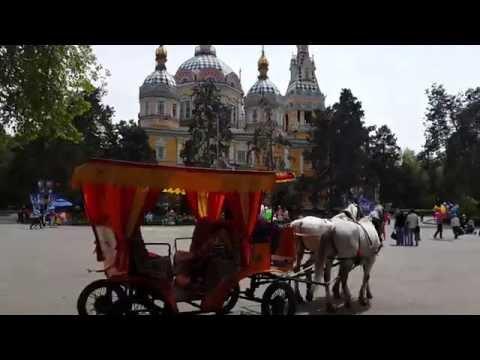 Real Life Disney Horse Drawn Carriage in Almaty Kazakhstan