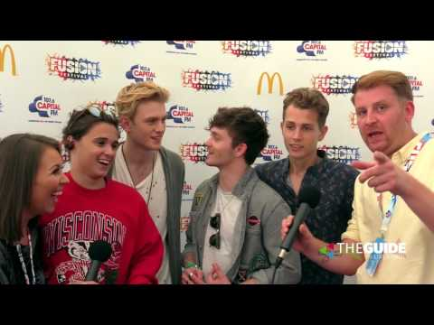 The Vamps chat to Jay & Ellie at Fusion Festival 2016     HD