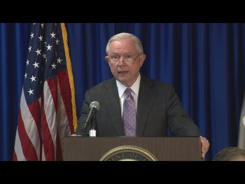 Attorney General Jeff Sessions talks about immigration policy in Austin