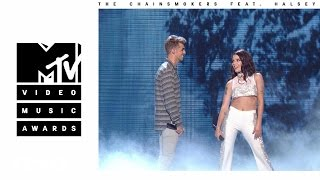 The Chainsmokers - Closer Live from the 2016 MTV VMAs ft Halsey