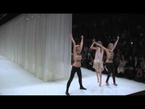 Model Punches Boob-Flashing FEMEN Protestors At Paris Fashion Week Show
