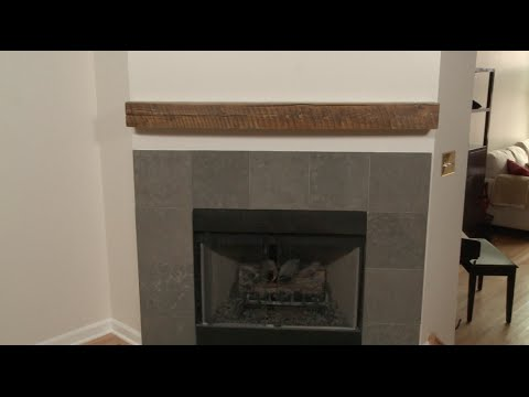 How to Install a Fireplace Mantel - YouTube