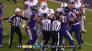 Ndamukong Suh Shoves Ryan Mallett Leading to Fight   Dolphins vs. Ravens   NFL