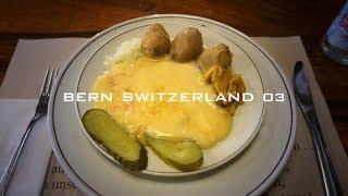 スイスの旅3 / ラクレットを食べにスイス料理レストランへ・アインシュタインの家・絶景スポットのバラ公園からのベルン旧市街の展望風景【世界遺産の街】