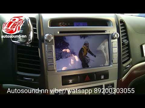 """Обзор Штатной Магнитолы Hyundai Santa Fe(2007+)7"""" Android 6.0"""