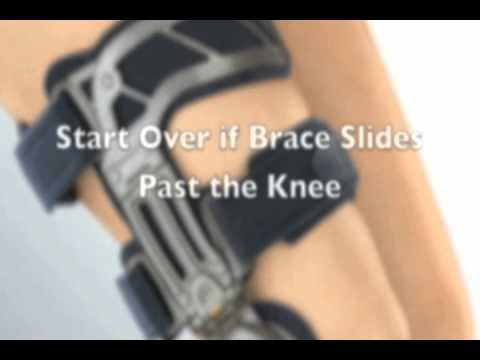 How to put on your Osteoarthritis Knee Brace