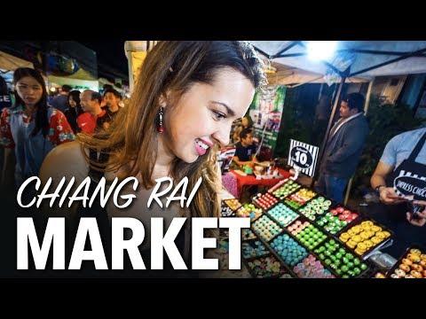 Chiang Rai Thailand Night Market - RAW Vlog #3