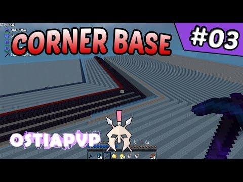 Corner Base Work & Progress | OstiaPvP #3 (Minecraft Factions)