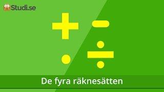 De fyra räknesätten (Matematik) - Studi.se