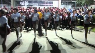 shaw university cheerleaders bka chi chis 2011 pep rally part 1