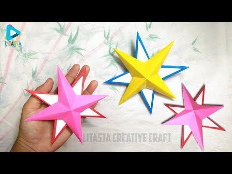Cara mudah membuat bintang 🌟⭐ dari kertas origami   DIY FOR KIDS