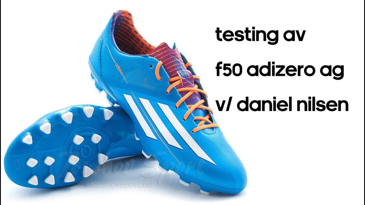 baños fama Rodeado  Test av adidas F50 adiZero AG Samba fotballsko - YouTube