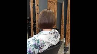 Стрижка короткий градуированный Боб Haircut short graduated bob стрижкабоб боб haircutbob haircut