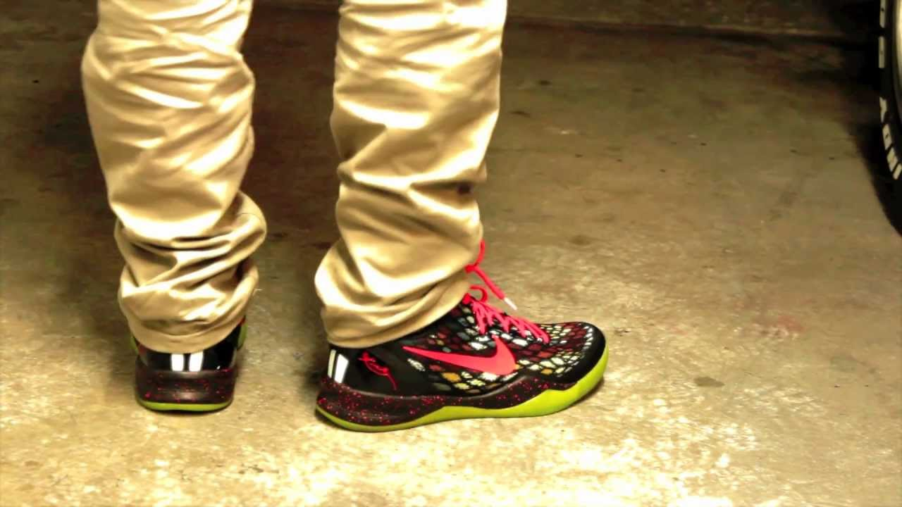 Nike Kobe 8 Christmas ON FEET - IDSolecreator - YouTube