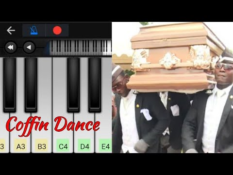 Funeral Coffin Dance Theme Music Easy Piano Tutorial Perfect
