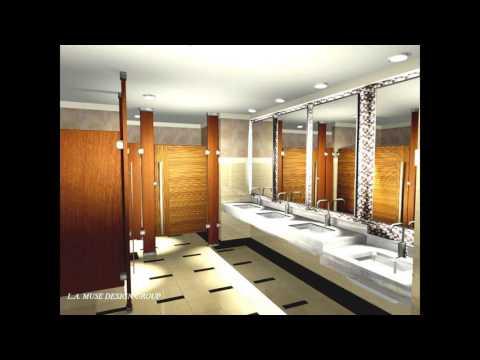Hotel public bathroom design
