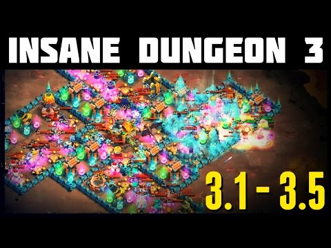 Castle Clash: Insane Dungeon 3-1 To 3-5