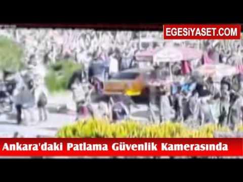 Ankara'da 95 Kişinin Öldüğü Patlama Güvenlik Kamerasında