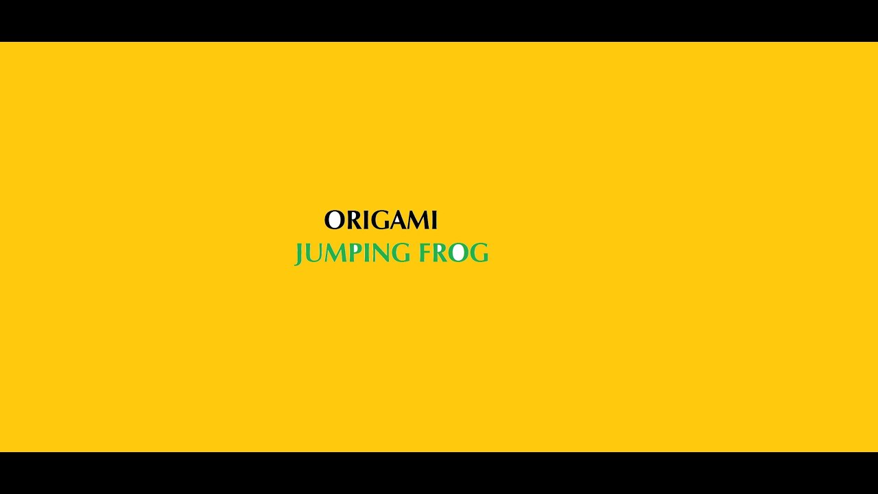 Origami jumping frog tutorial (easy origami) - YouTube - photo#47