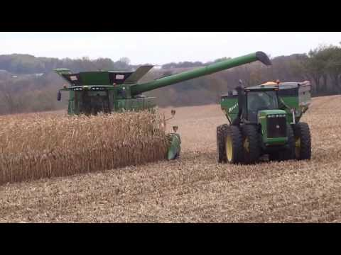 Grain Cart - corn on the move from combine to unloading in the semi!
