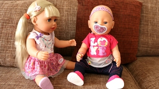 Baby Born Sister Doll: Drinks and Cries Real Tears ! Merry Christmas and Make Babydoll Hairstyles