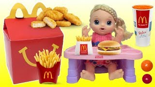 BABY ALIVE Sweet Tears and Eats McDonald's Happy Meal