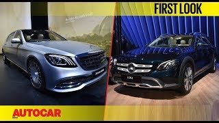 Mercedes-Maybach S 650 & Mercedes-Benz E-class All-Terrain | First Look | Auto Expo | Autocar India