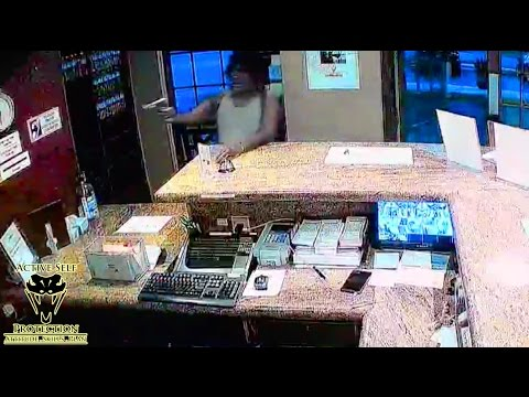 Manager Almost Knocks Armed Robber Out | Active Self Protection