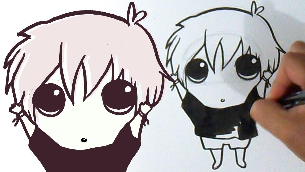 Tokyo Ghoul Dibujos Para Colorear: Cómo Dibujar A Ken Kaneki Kawaii De Tokyo Ghoul