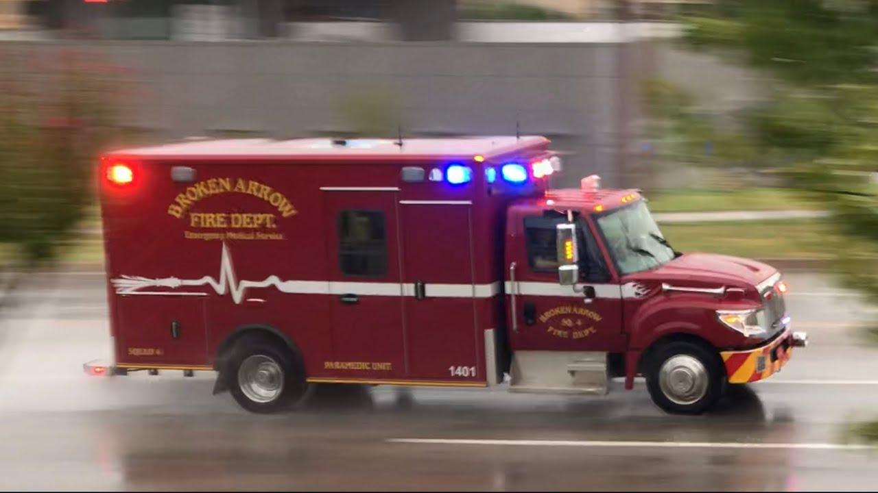 Broken Arrow Fire Department Squad 4 Responding