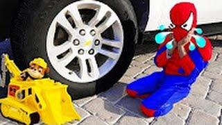 Freaky Джокер Тисне Spiderbaby Іграшки Вантажівки Вогню Під Автомобілем Ж / Spiderman, Hulk & Cats