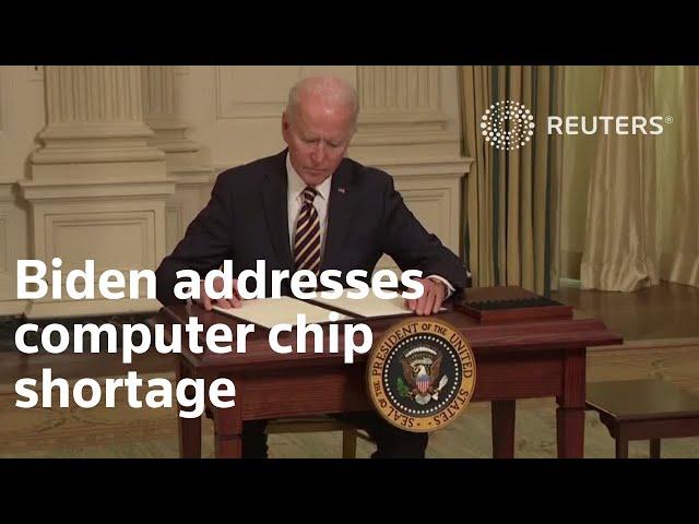 Biden rushes to address computer chip shortage