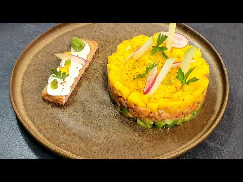 tartare-de-saumon-avocat-et-mangue- -recette-rapide-et-facile