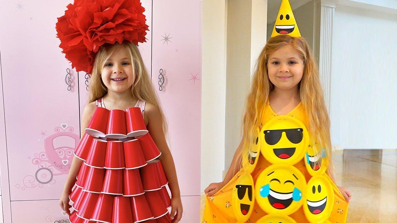 Диана делает новое платье для вечеринки Cool DIY Ideas